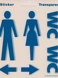 WC Sticker Damen/Herren/Pfeile
